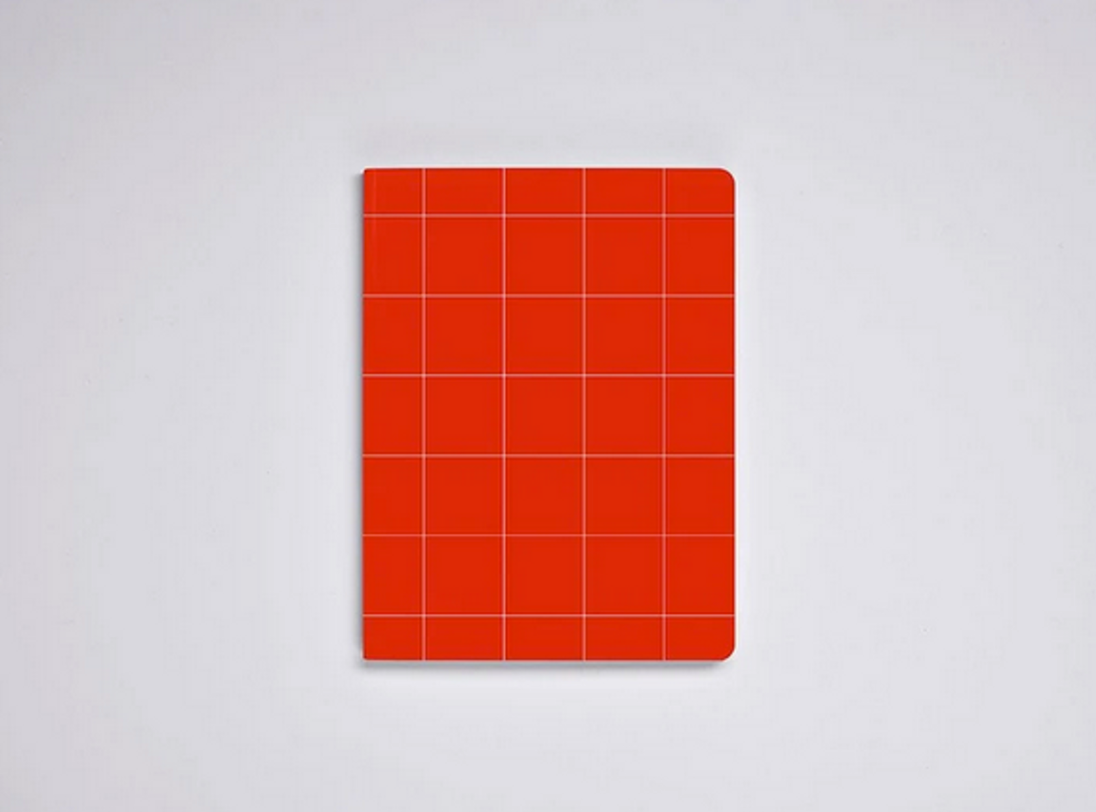 Break The Grid Red A5 Grid Notebook