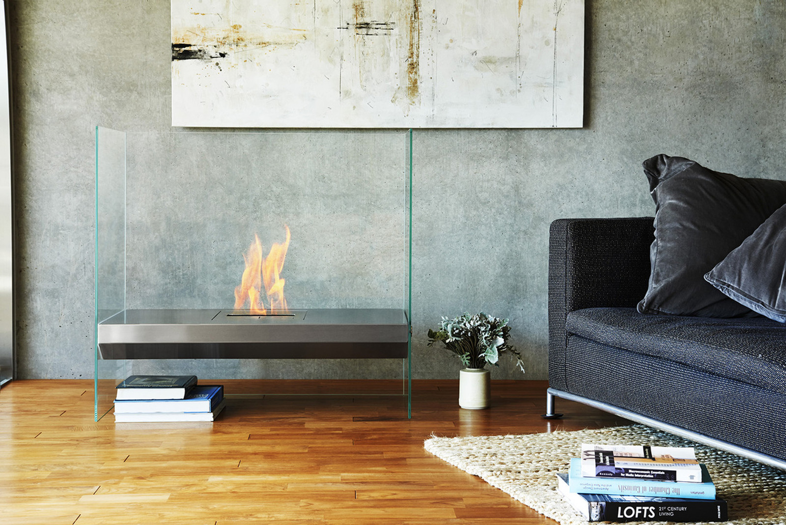 Ecosmart Igloo Flueless Ethanol Fireplace