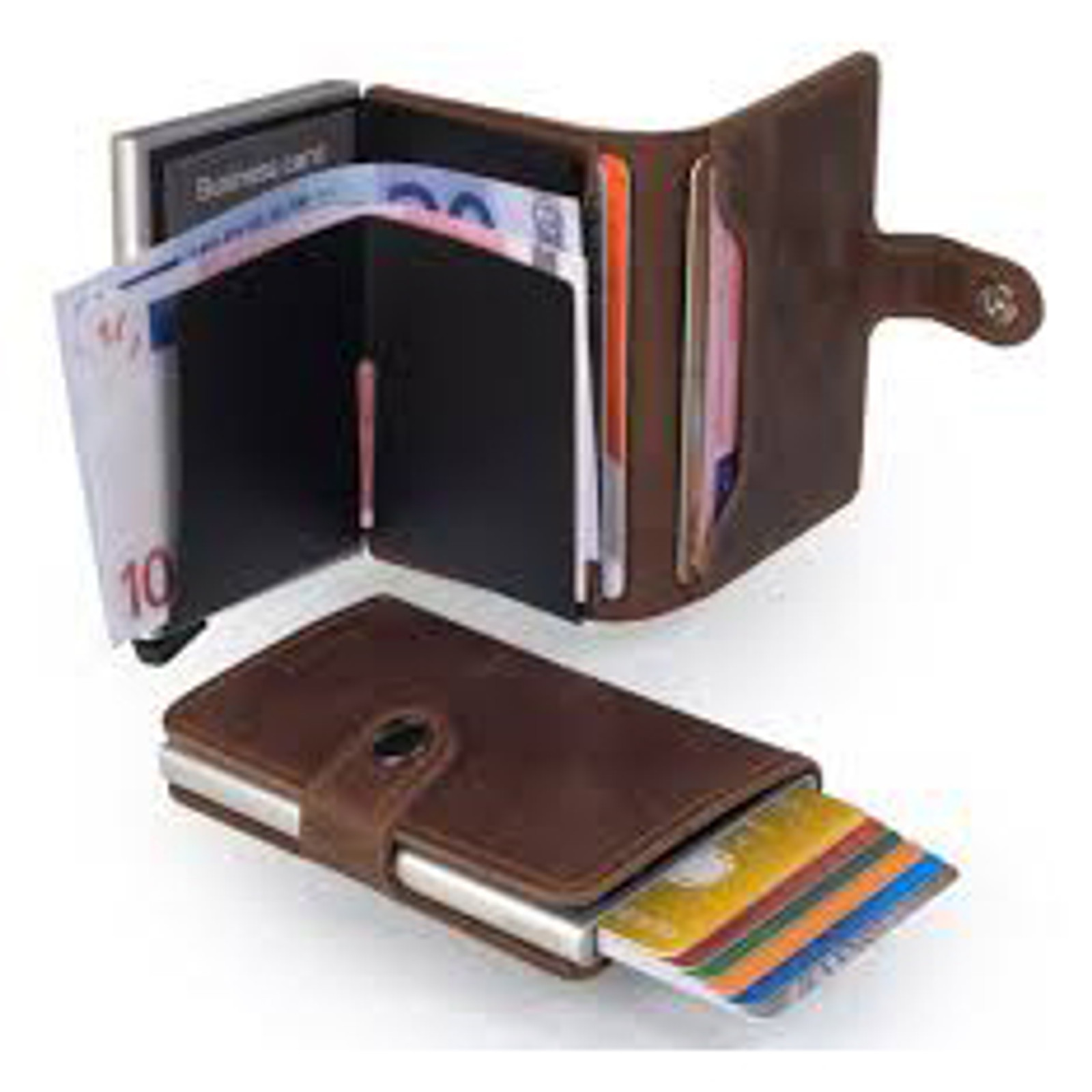 RFID Safe Miniwallet - Vintage Brown