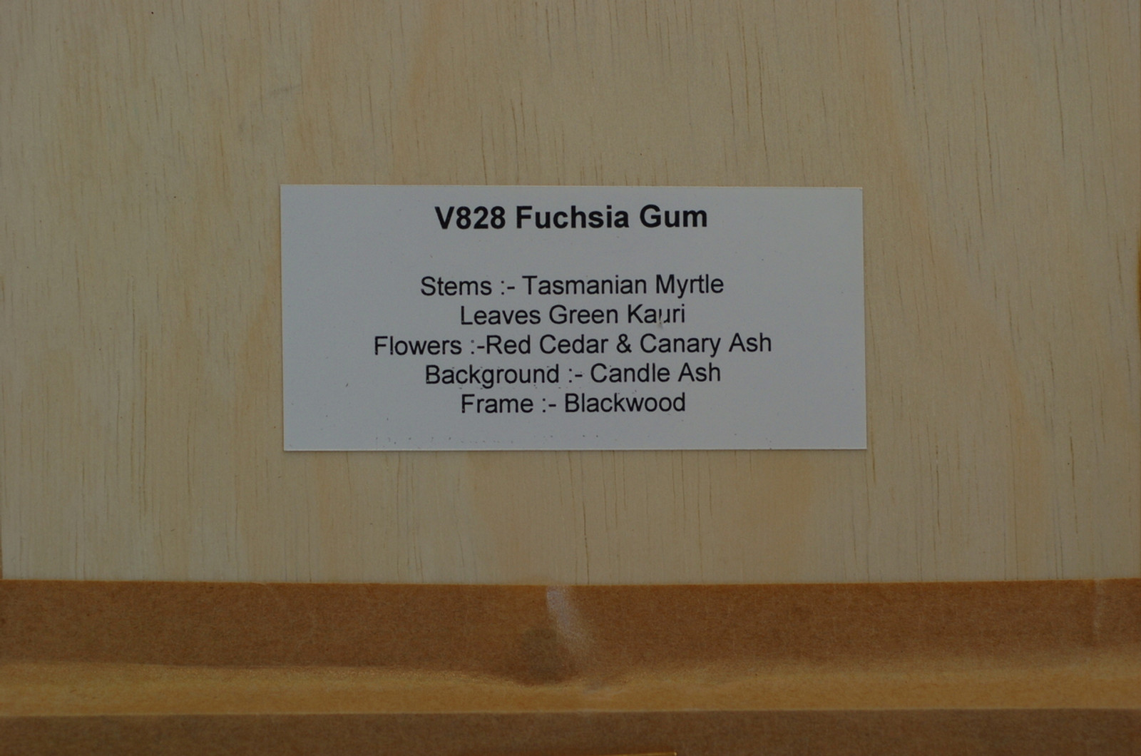 V828 Fuchsia Gum - Marquetry by Michael Retter