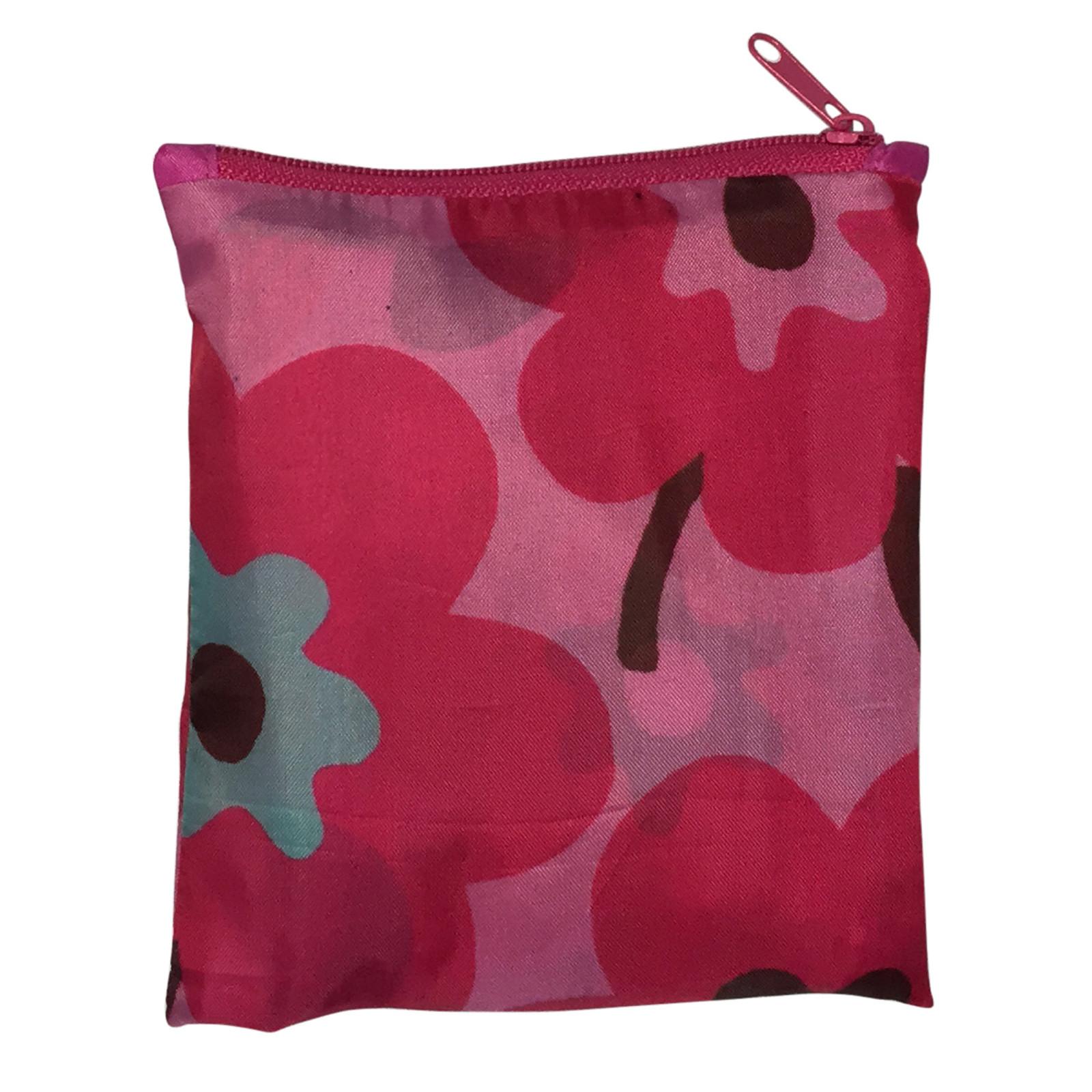 Foldable Midi Shopper (Reusable Bag) -  Pink Flowers