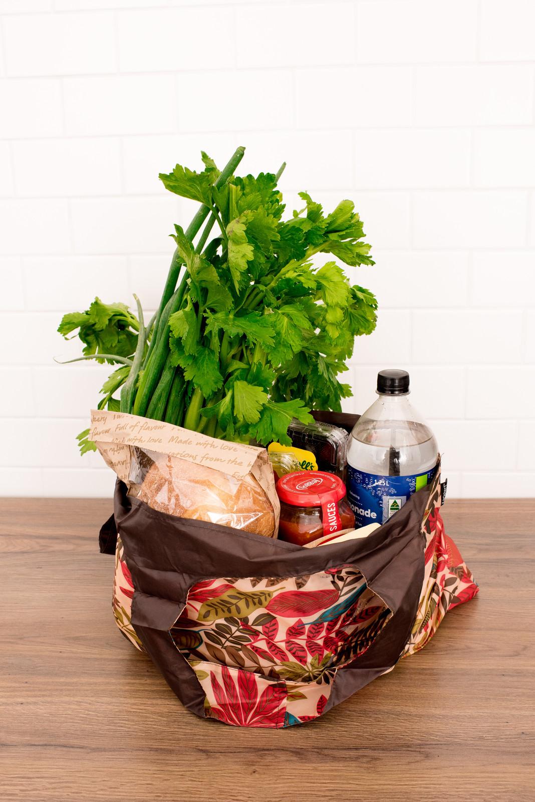 Foldable Midi Shopper (Reusable Bag) -  Leaves