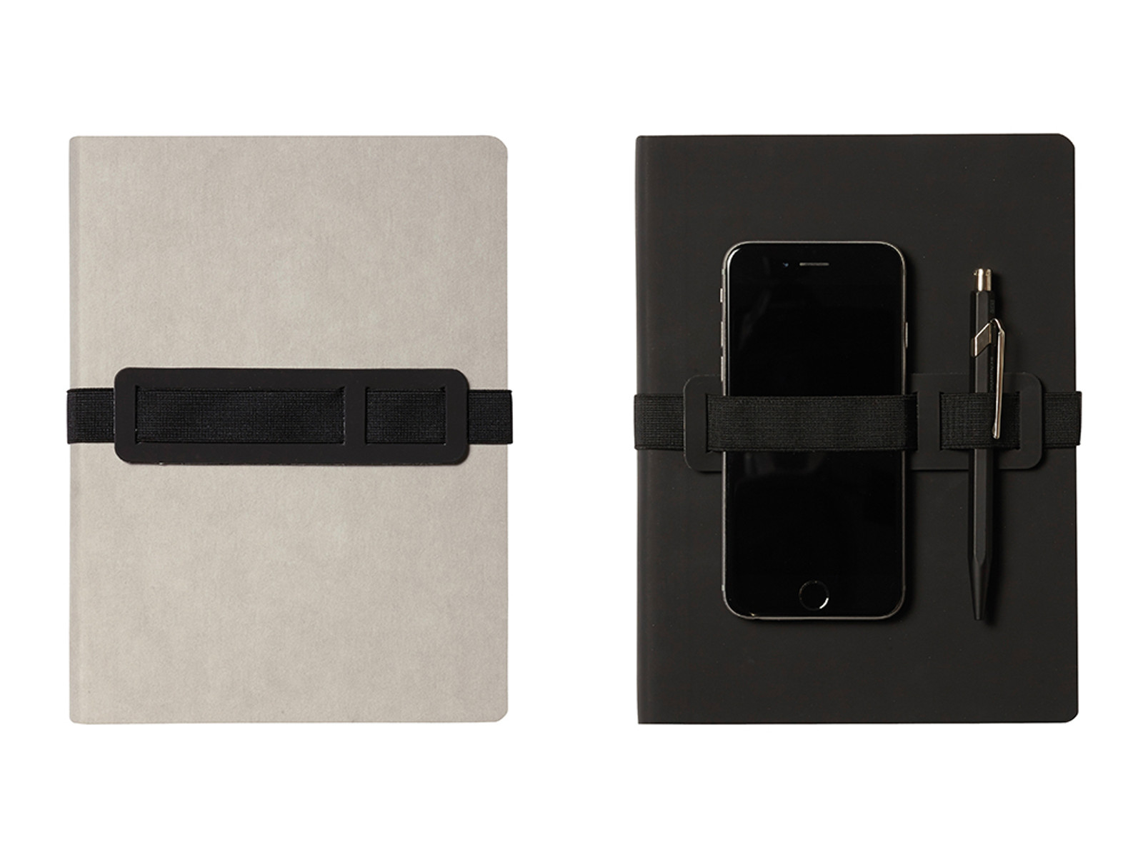 Voyager Dotted Notebook Grey