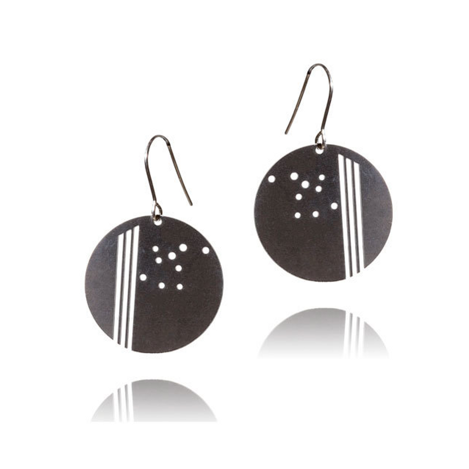 Deco Circle Dot Earrings
