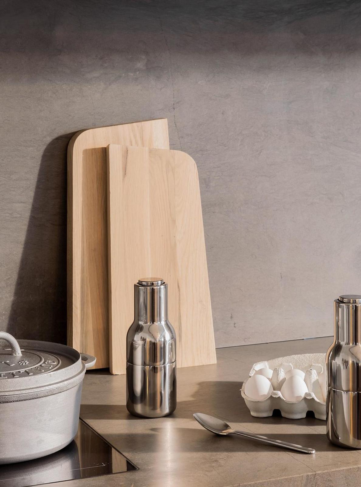 New Norm Bottle Grinder set - Brushed Steel