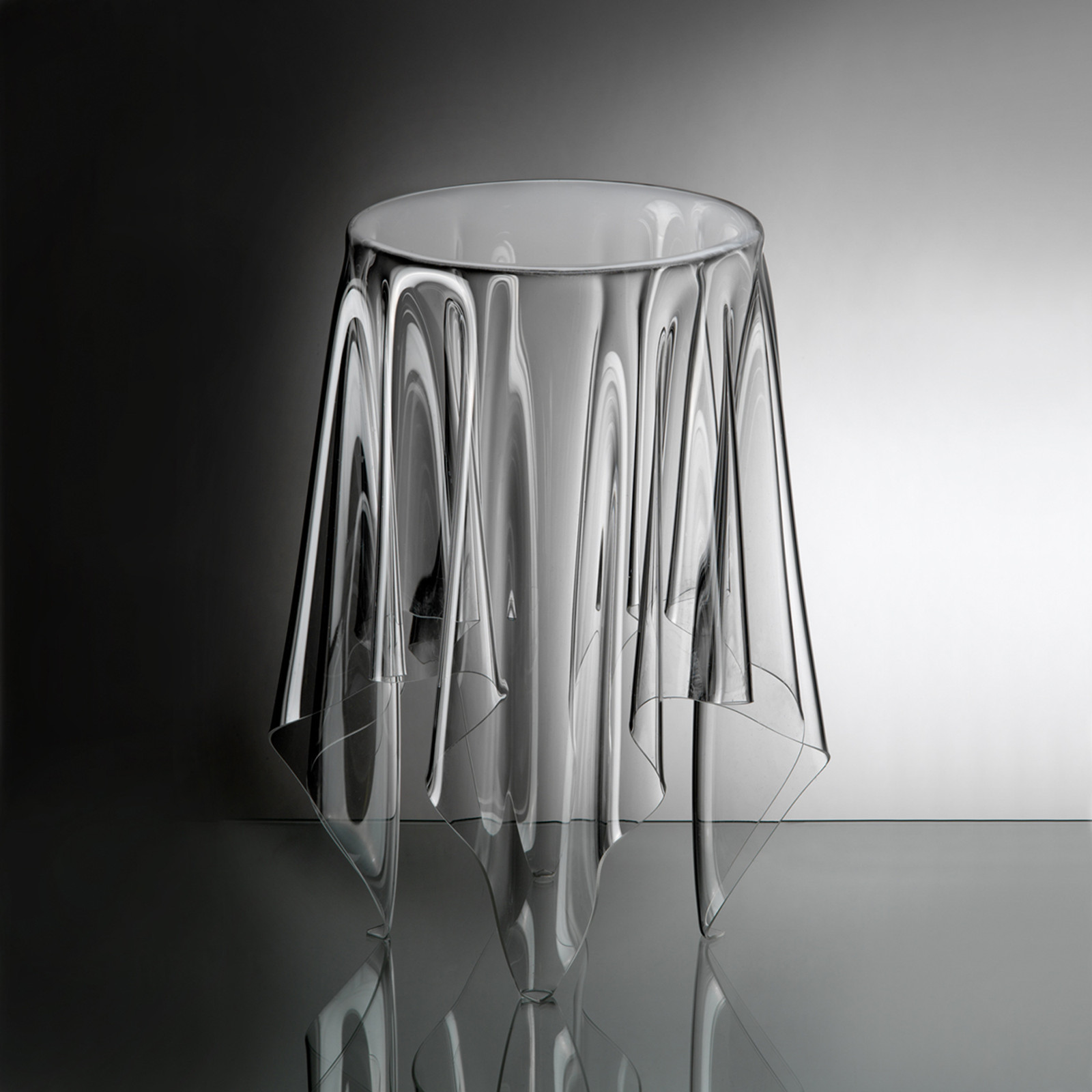 Illusion Tall Clear Side Table