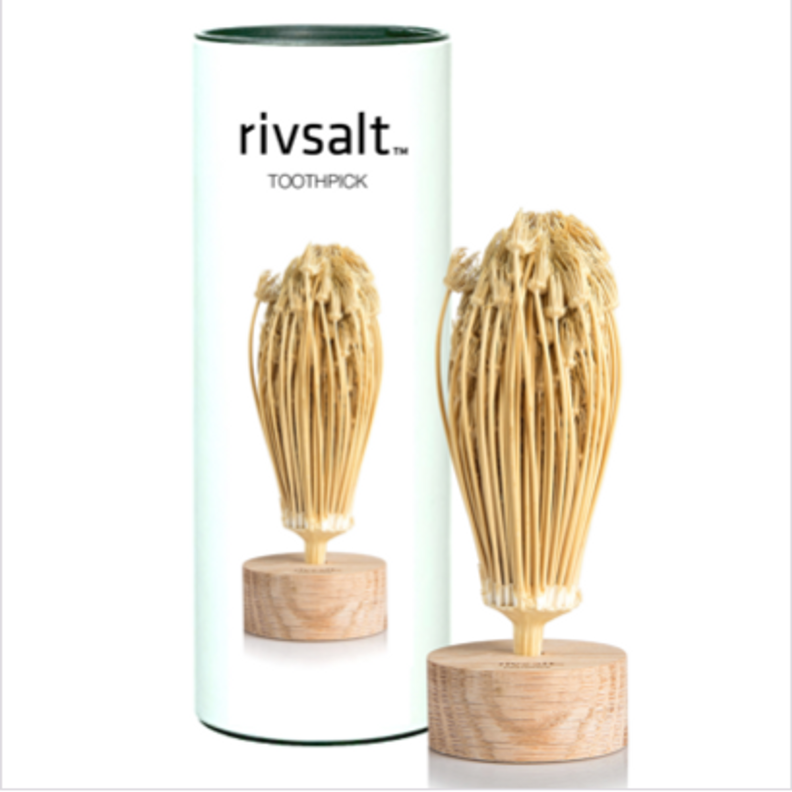 Rivsalt Toothpick with oak stand