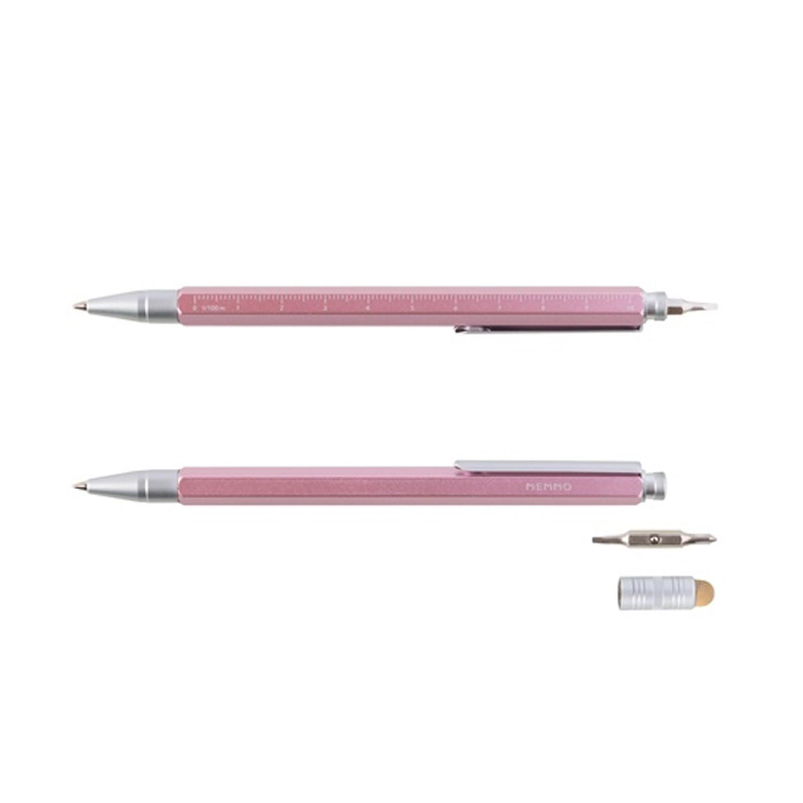 METRO Tool Pen w/ Screwdriver & Ruler Pink