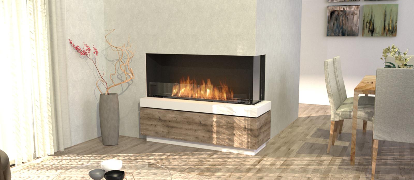 Flex Right Corner with left decorative box