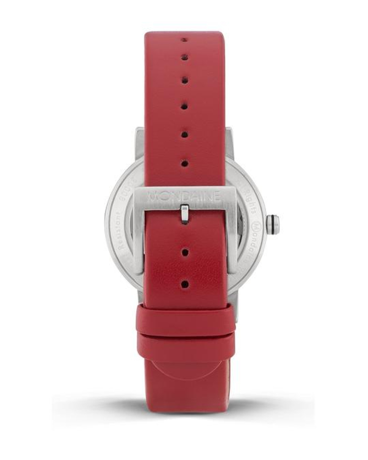 Classic Automatic Date 33mm  - Red strap