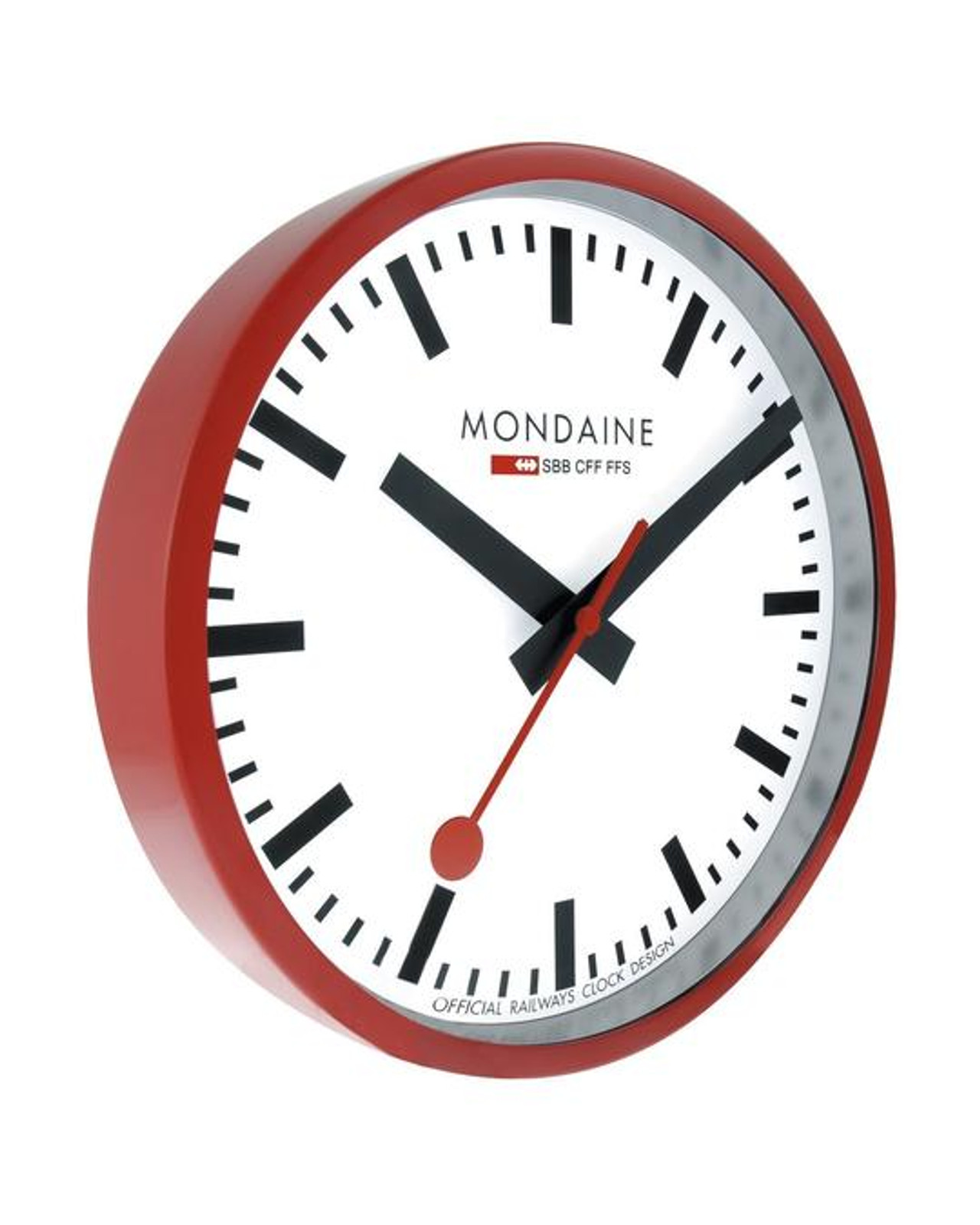 Red Frame Wall Clock