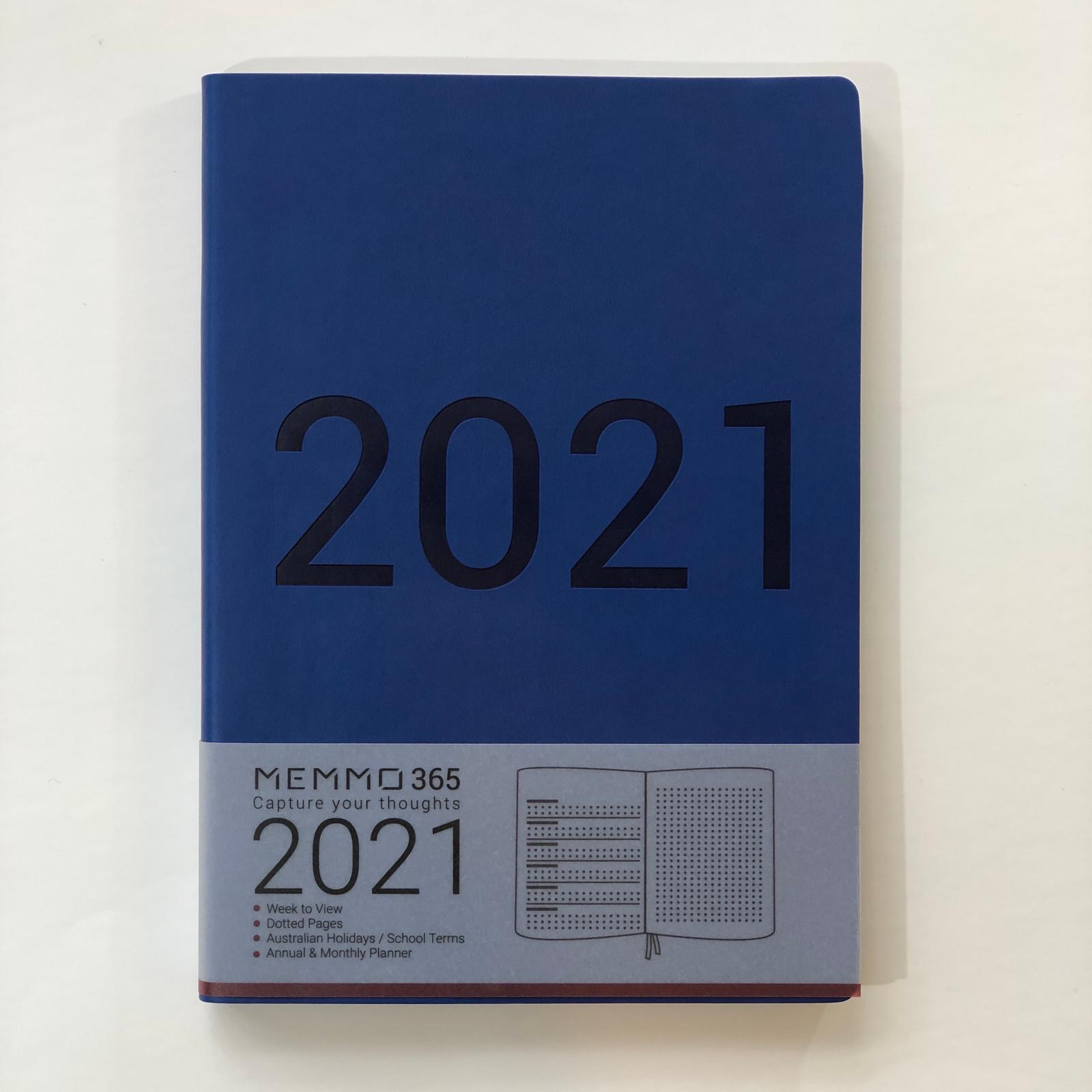 Memmo 2021 Diary - Deep Sea Indigo