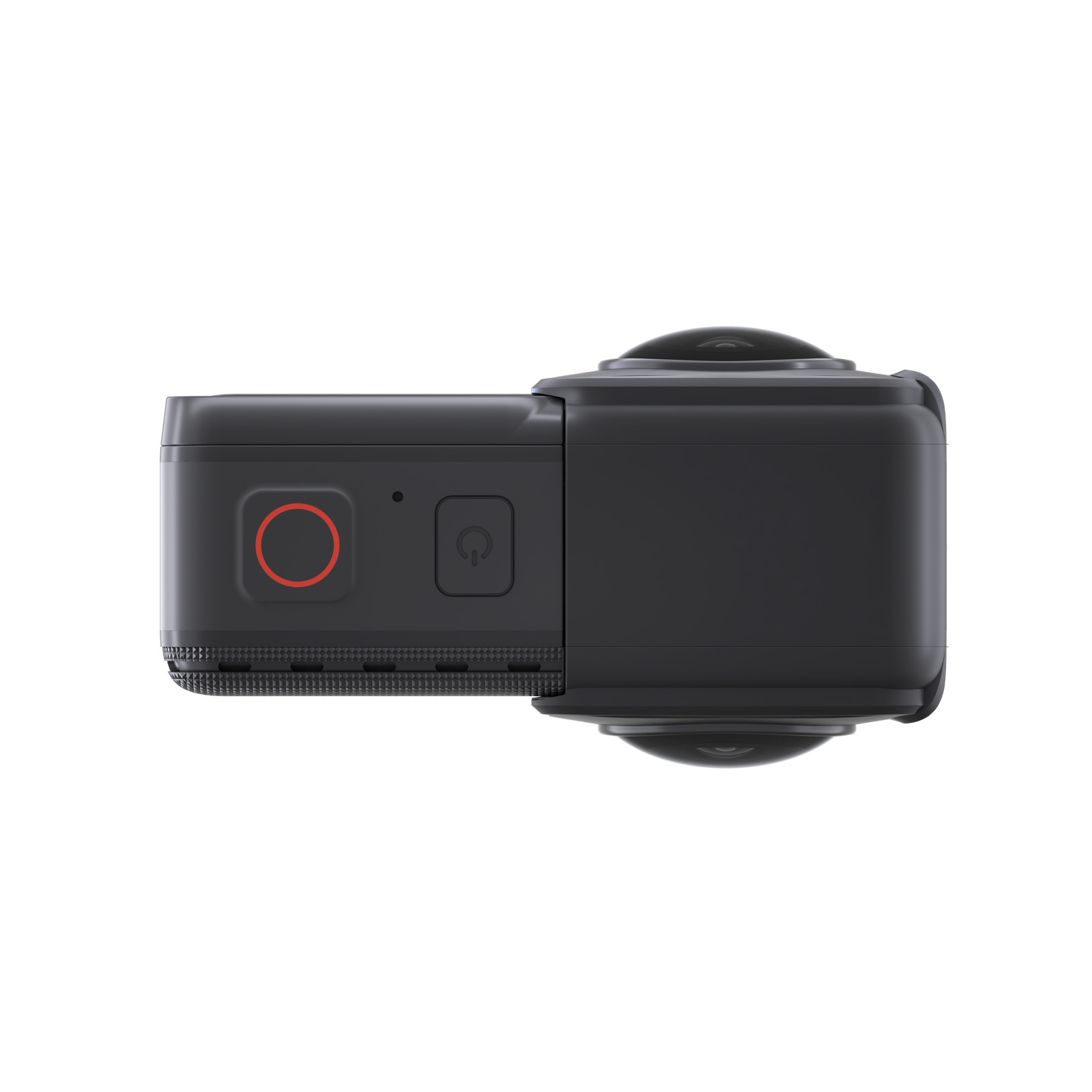 Insta360-ONE R - top view of 360 camera mounted