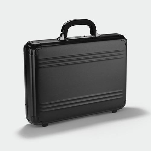 Zero Halliburton Zero Halliburton - Pursuit - Medium Attaché Case - Black Aluminium
