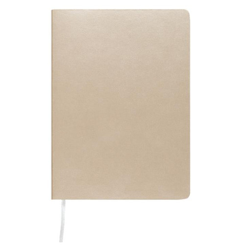 Memmo Luxe Bonded Leather Lined Notebook A6 - Silver