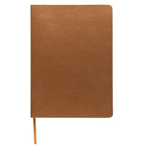 Memmo Luxe Bonded Leather Lined Notebook A6 - Gold