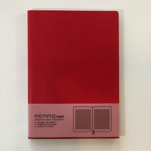 Memmo Lined Notebook A5 - Rouge