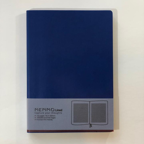 Memmo Lined Notebook A5 - Deep Sea