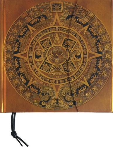 Precolombina Cultura Azteca Sun Dial Lined Notebook
