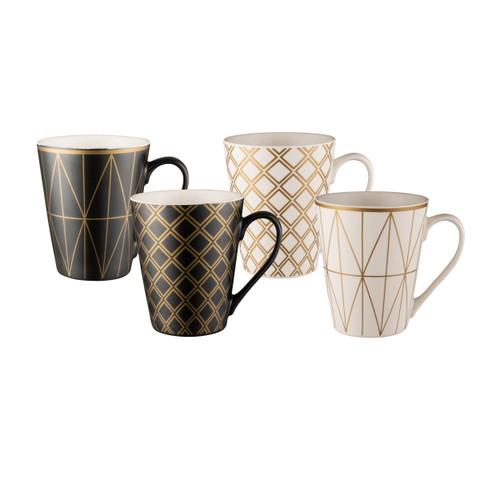 Conical Mug Set of 4 - Geotalics