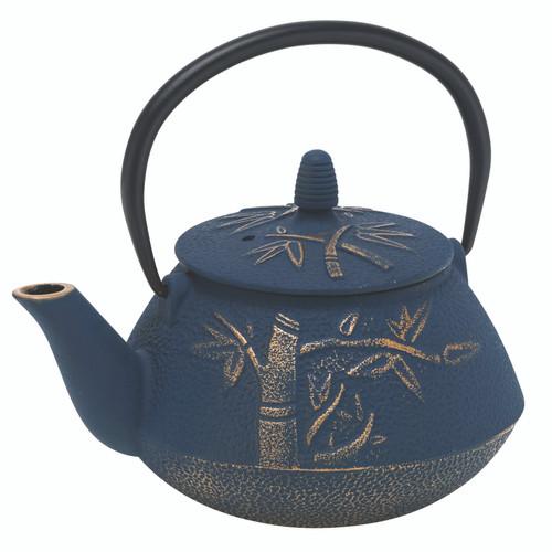 Bamboo Navy/Bronze Cast Iron Teapot