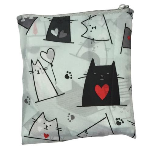Foldable Midi Shopper (Reusable Bag) -  Cats