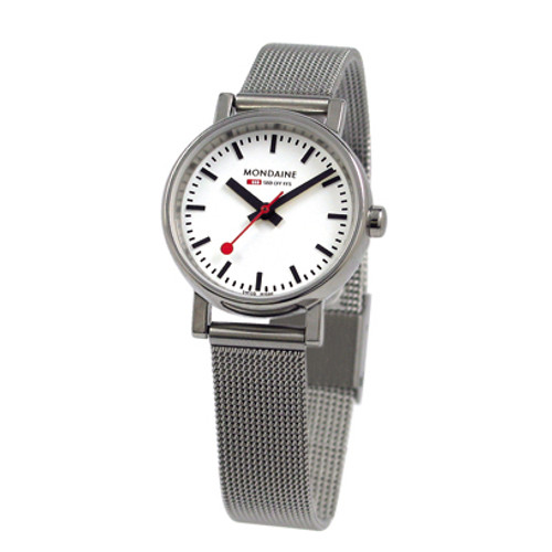 Evo 2 Petite 26mm - Stainless Steel Mesh Strap White Face
