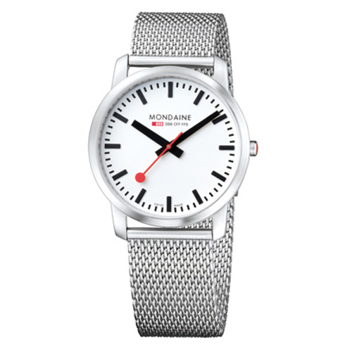 Simply Elegant 41mm - Stainless Mesh Strap White Face Sapphire Glass