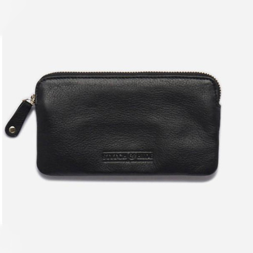 Lucy Pouch Leather Wallet Charcoal