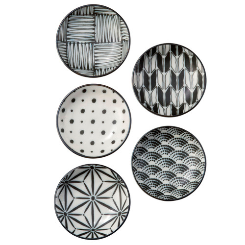 9cm Dipping Plate Set of 5