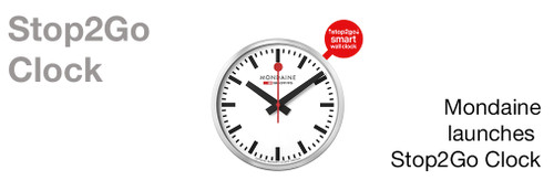 Mondaine Launches the Stop2Go 25cm Clock