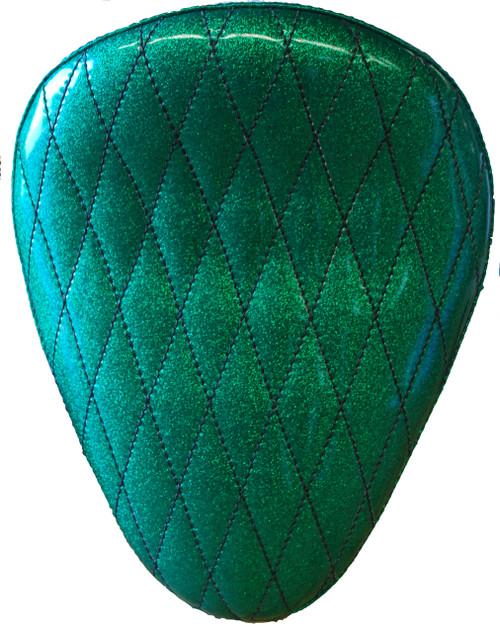"13"" HARLEY-DAVIDSON GREEN METAL FLAKE DIAMOND TUK BY LA ROSA DESIGN"