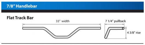 "1"" FLAT TRACK HANDLEBAR Cable Slot Gold, diameter 1"" (25.4mm)"