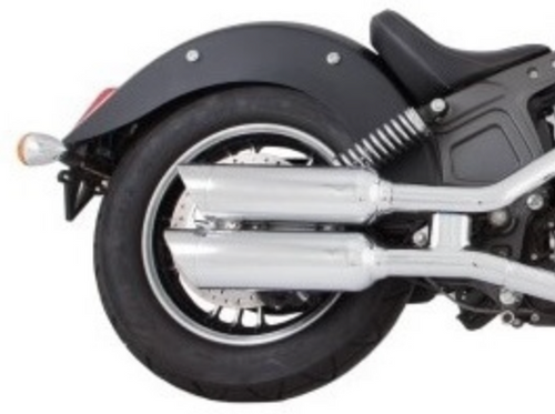 TAB PERFORMANCE FITS INDIAN SCOUT SHORT CHROME TIP COMPATIBLE EXHAUST PIPES