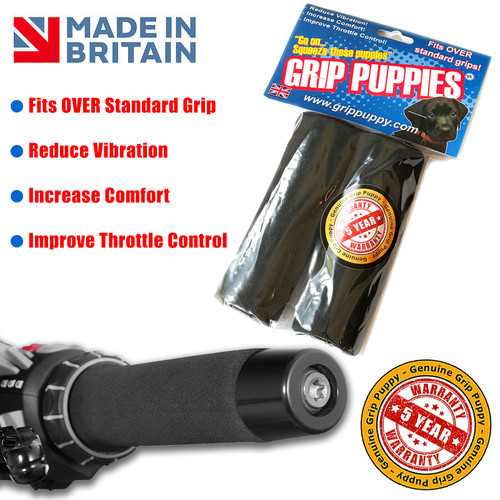 UNIVERSAL MOTORCYCLE  GRIP PUPPY PUPPIES GRIP COVERS THE ORIGINAL MADE IN UK