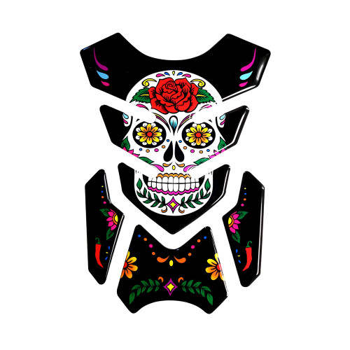DAY OF THE DEAD MEXICAN SKULL TANK PAD PROTECTOR  MADE IN ITALY