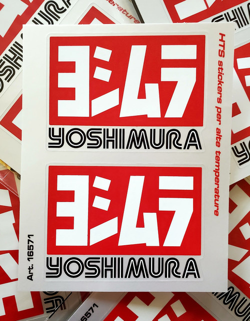 YOSHIMIRA  EXHAUST STICKERS SET OF TWO  MADE IN ITALY