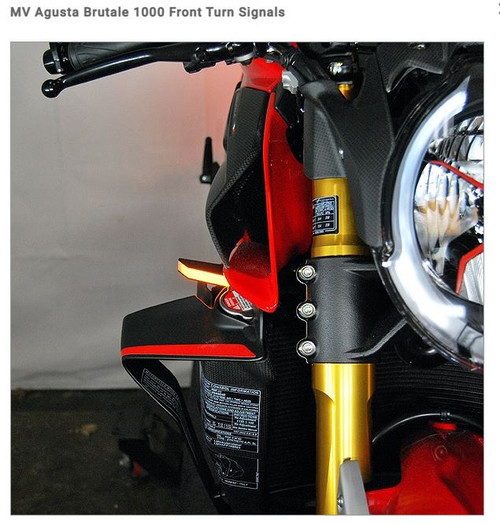 MV Agusta Brutale 1000 Front Turn Signals NRC NEW RAGE CYCLES