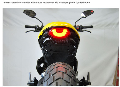Ducati Scrambler Fender Eliminator Kit Icon/Cafe Racer/Nightshift/Fasthouse NEW  RAGE CYCLES