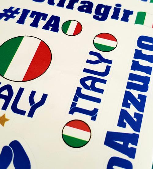 ITALIAN FOOTBALL SOCCER TEAM AZZURRO EUROCUP VICTORY ITAEURO 20 STICKERS