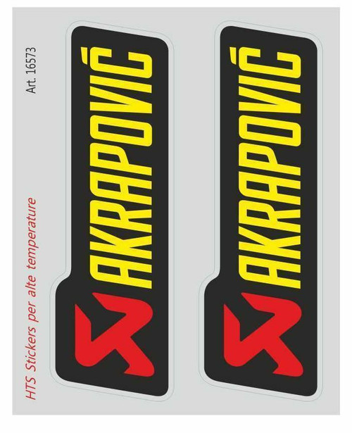 AKRAPOVIC EXHAUST STICKERS SET OF TWO  MADE IN ITALY