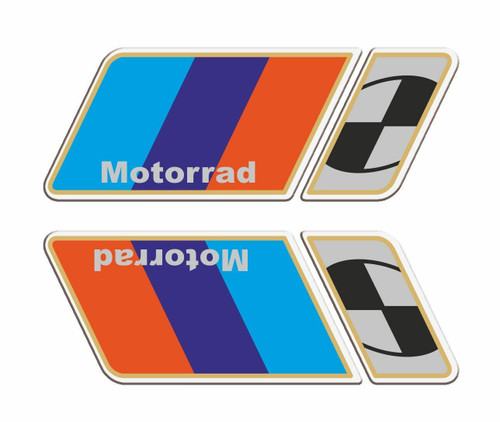 BMW MOTORRAD STICKER SET OF 2 LEFT AND RIGHT MADE IN ITALY