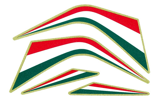 REFLECTIVE ITALIAN FLAG COLOURS MADE IN ITALY  SMALL