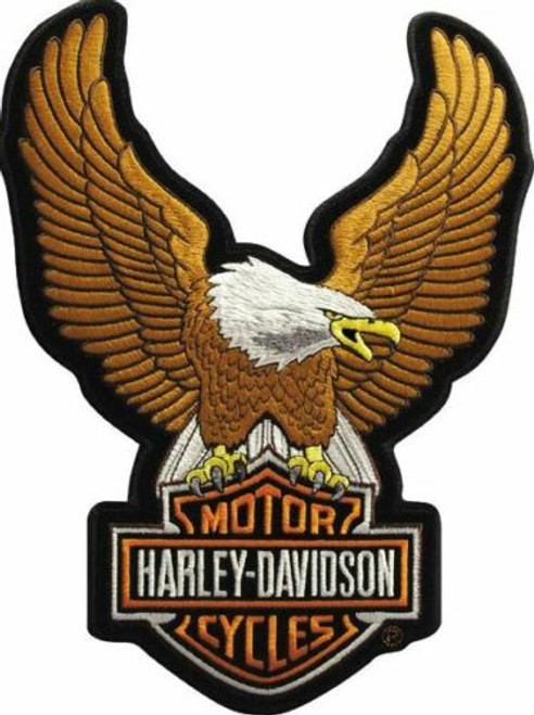 HARLEY DAVIDSON EAGLE UPWING SEW ON  PATCH