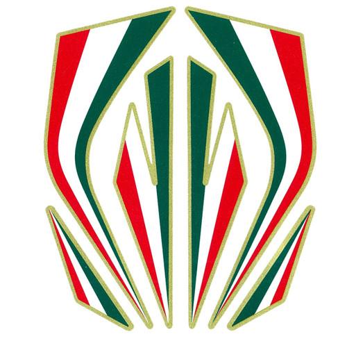 REFLECTIVE ITALIAN FLAG COLOURS MADE IN ITALY  MEDIUM