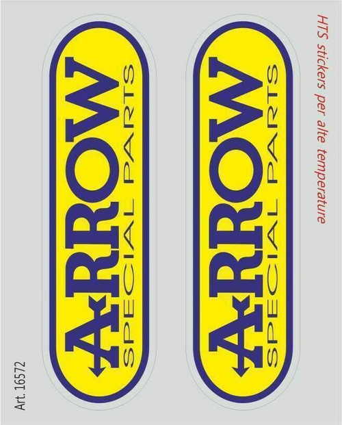 ARROW EXHAUST STICKERS SET OF TWO HTS HIGH TEMPERATURE  MADE IN ITALY