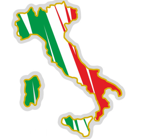 REFLECTIVE ITALIAN FLAG BOOT MAP OF ITALY MADE IN ITALY