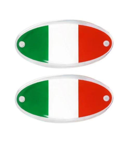 ITALIA  ITALIAN OVAL RESIN 3D STICKERS MADE IN ITALY