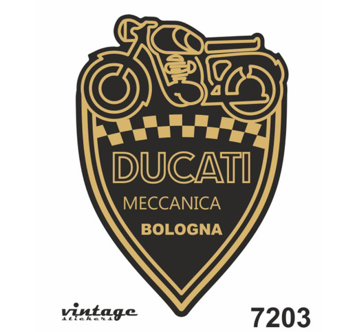 DUCATI VINTAGE STICKER  MADE IN ITALY