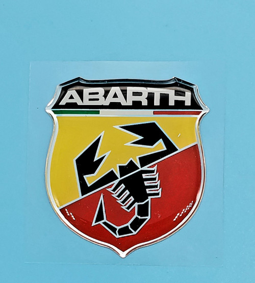 ABARTH 50MM STICKER 3D EMBLEM SELF ADHESTIVE AUTHORIZED PRODUCT MADE IN ITALY